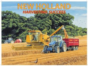 New Holland Harvesting large metal sign  (og 4030 lg)